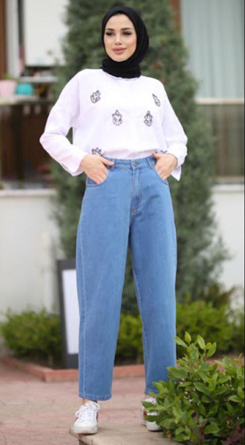 Kısa Boylu Tesettürlüler için Yüksek Bel Pantolon