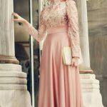 Parlak Kumaş Mezuniyet Elbisesi