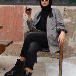 Rabia Sever Siyah Pantolon Kombin