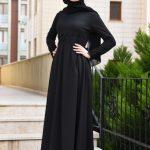 Siyah Tesettür Mezuniyet Elbise