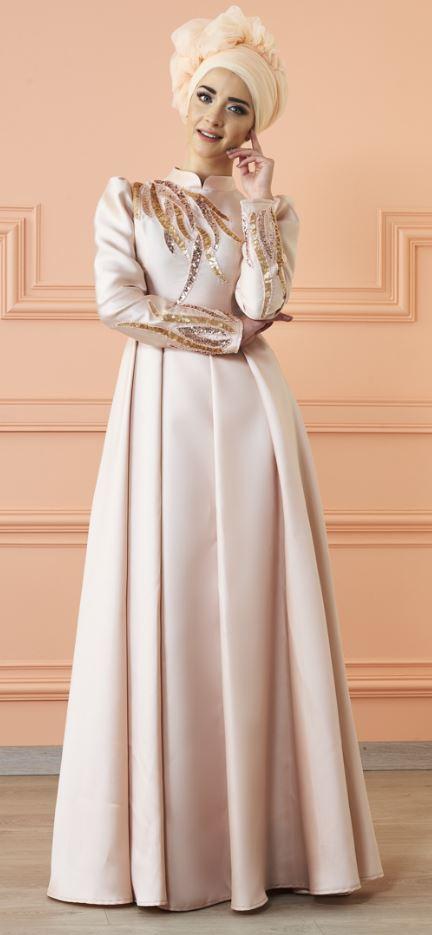 Somon Mevra Tesettür Abiye Modeli