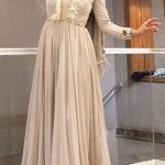 Tüy Detaylı Tesettür Elbise