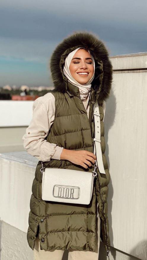 Ebru Sever Kışlık Oduncu ceket