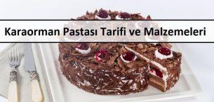 Karaorman Pastası Tarifi ve Malzemeleri