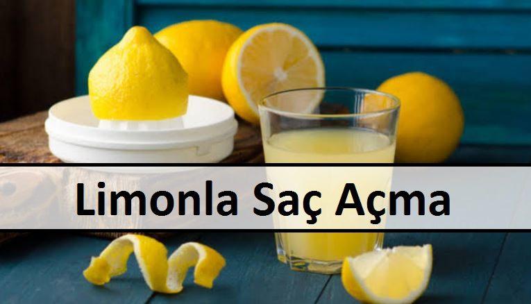 Limonla Saç Açma