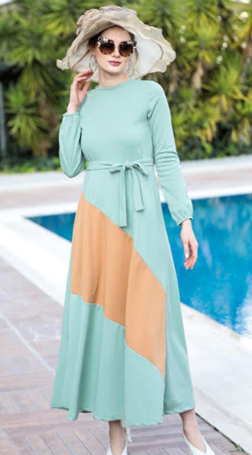 Mint Yeşili Yazlık Elbise Modeli