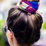 Renkli Saç Topuzu Saç bandı