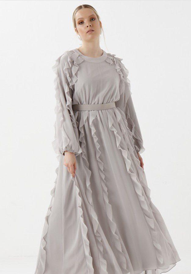 Sevda Karaer Fırfır Elbise Modeli
