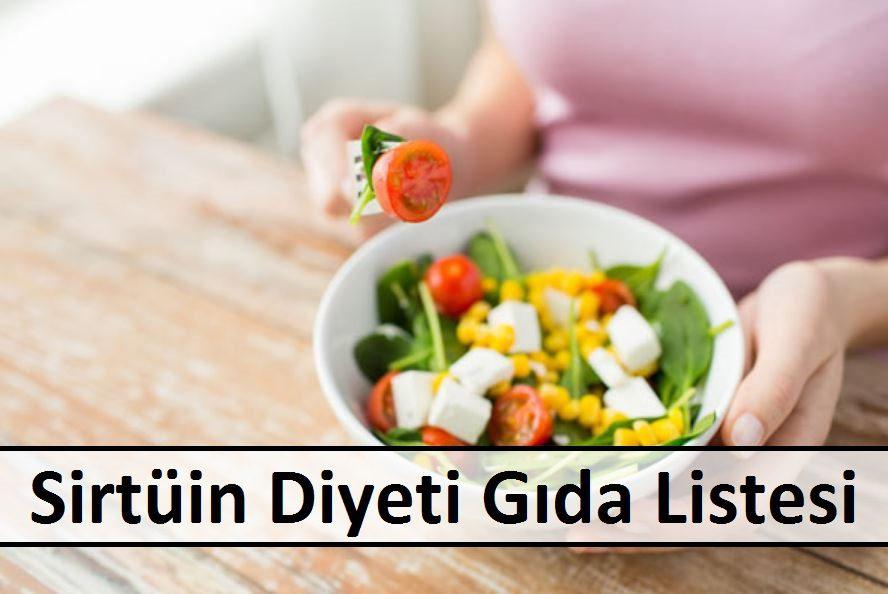 Sirtüin Diyeti Gıda Listesi