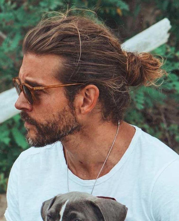 Uzun Toplu Erkek saç stili