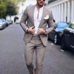 Baharlık takım elbise kombin