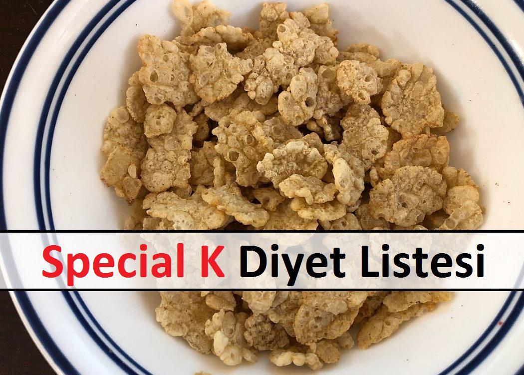 Special K Diyet Listesi