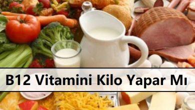 B12 Vitamini Kilo Yapar Mı