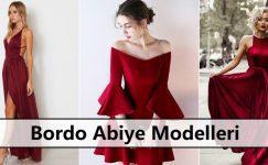 Bordo Abiye Modelleri