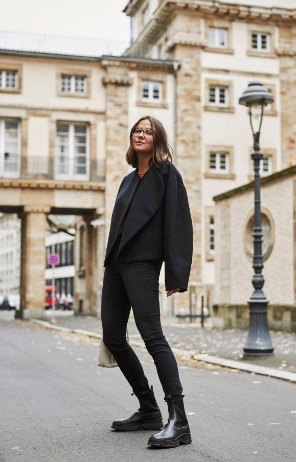 Çizgili Mom Jean Pantolon Modeli