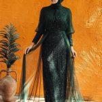 Payetli Abiye Elbise Modeli – Zümrüt Yeşili