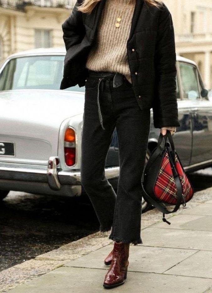 Siyah Mom Jean Elegant Model