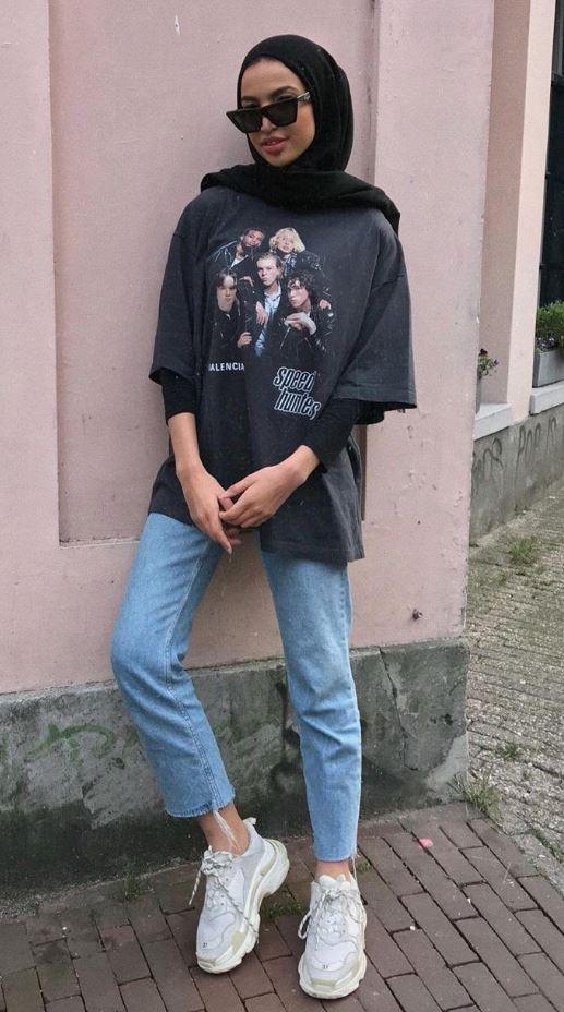 Tesettür Mom Jean Modeli