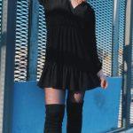 Yaren Alaca Siyah Elbise Kombini