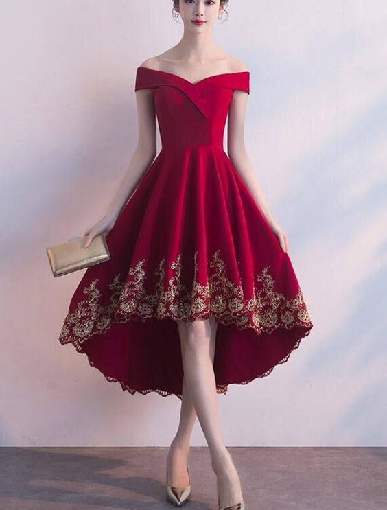 Elegant Claret Red Dressy