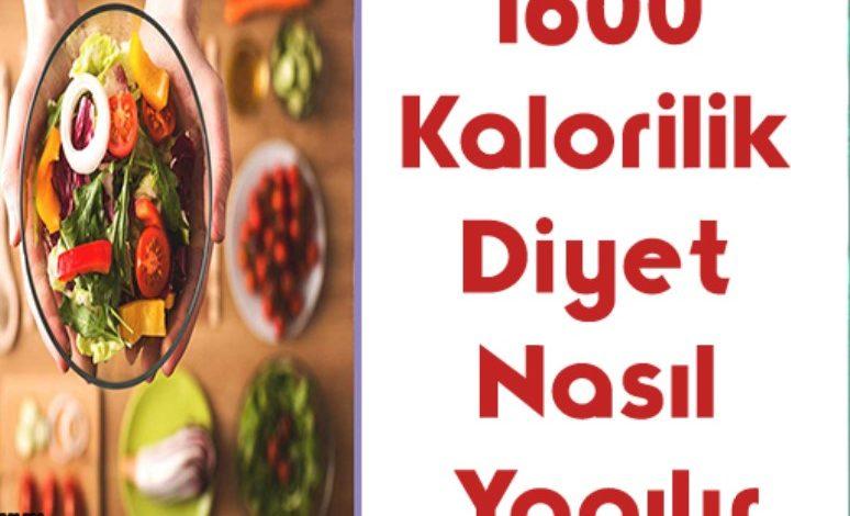 1600 Kalori Diyet Listesi