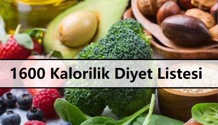 1600 Kalorilik Diyet Listesi