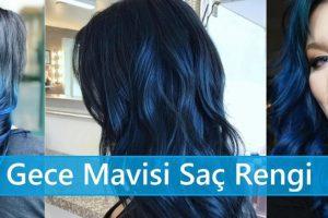 Gece Mavisi Saç Rengi
