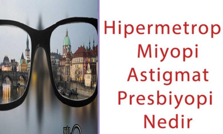 Hipermetropi, Miyopi, Astigmat, Presbiyopi Nedir ve Belirtileri Nelerdir