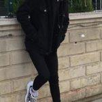 Samet Topçu siyah ceket kombin