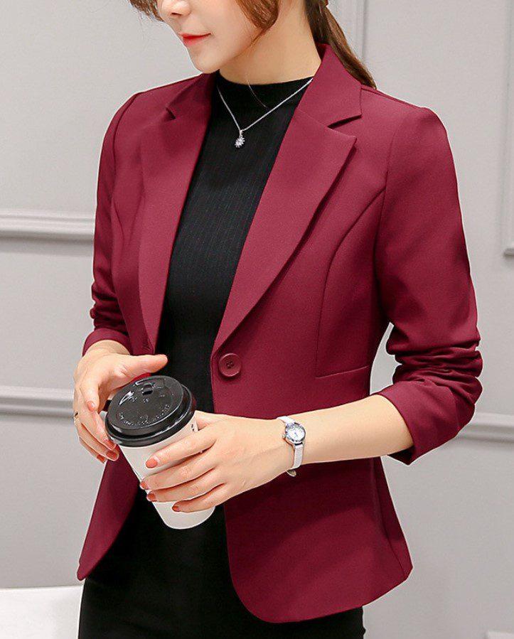 Bordo Kadın Blazer Ceket
