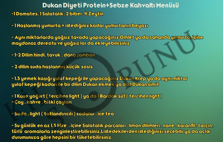 Dukan Diyeti Protein+Sebze Kahvaltı Menüsü