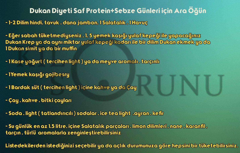 Dukan Diyeti Saf Protein+Sebze Günleri için Ara Öğün