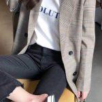 Erkek Tarzı Kadın Blazer Ceket