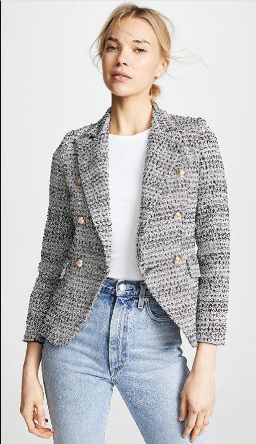 Gri Kalın Blazer Ceket