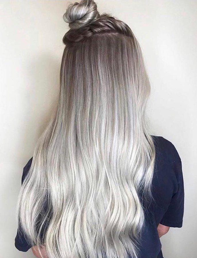 Gümüşi Bebek Kumralı Saç Rengi