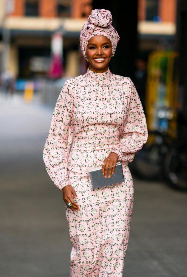 Halime Aden Pembe Elbise