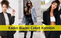 Kadın Blazer Ceket Kombin