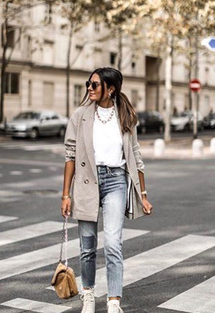 Kadın Blazer Ceket Spor Kombin