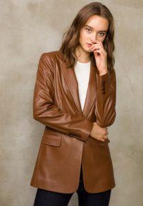 Kadın Deri Blazer Ceket