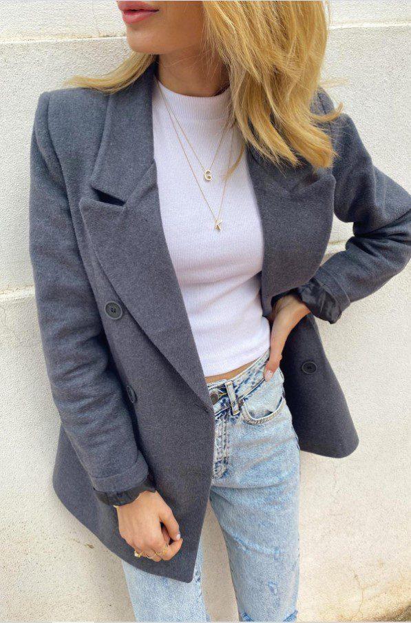 Kadın Penye Blazer Ceket