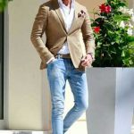 Kahverengi Ceket Jean Pantolon