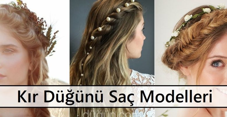 Kır Düğünü Saç Modelleri