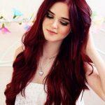 Koyu Kızıl Aşk Alevi Saç