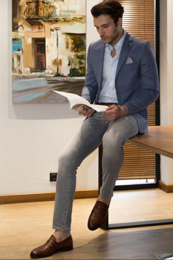 Lacivert Erkek Blazer Ceket Modeli