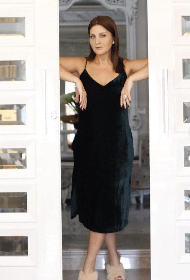 Sibel Can Siyah Askılı Elbise