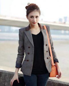 Slim Fit Kadın Blazer Ceket