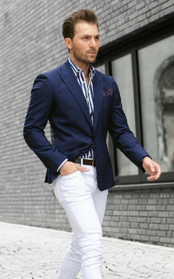 Slim Fit Lacivert Ceket Modeli