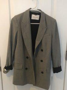 Uzun Gri Blazer Ceket