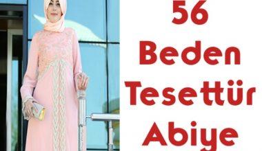 56 Beden Tesettür Abiye Modelleri