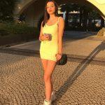 Aysude Sarı Yazlık Elbise